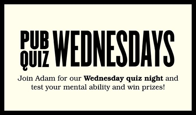 Pub Quiz Wednesdays
