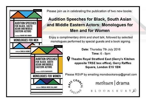 Audition Speeches for Black, South Asian and Middle East Book Launch