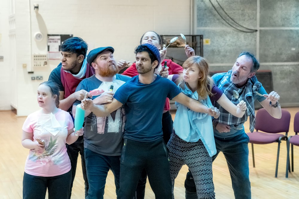 Cast of Oliver Twist in rehearsals