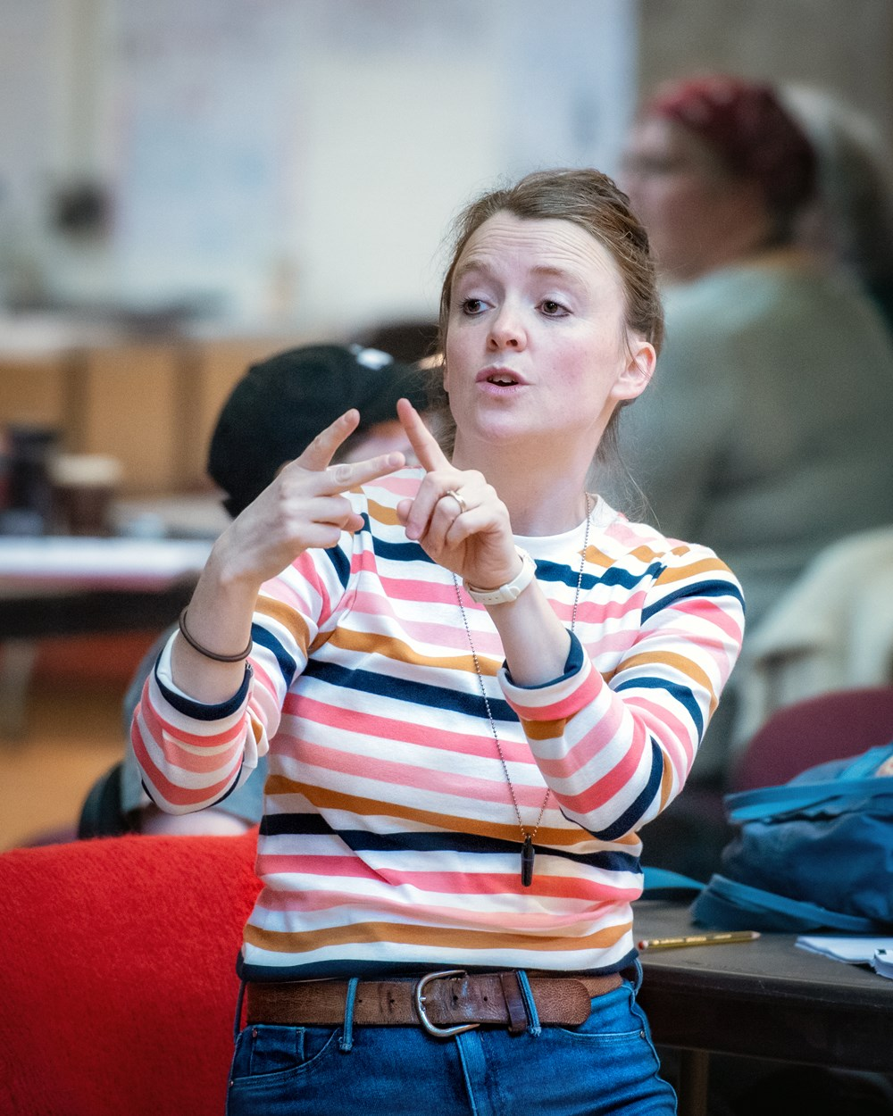 Director Amy Leach in Oliver Twist rehearsals